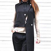 Одежда handmade. Livemaster - original item Black asymmetrical neoprene vest - VE0009NE. Handmade.