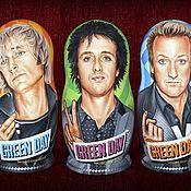 Русский стиль ручной работы. Ярмарка Мастеров - ручная работа Портреты на матрёшках (группа Green Day). Handmade.