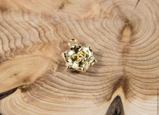 """Для украшений ручной работы. Ярмарка Мастеров - ручная работа. Купить Подвеска металлическая """"Цветочек"""",17 х22 мм. Handmade."""