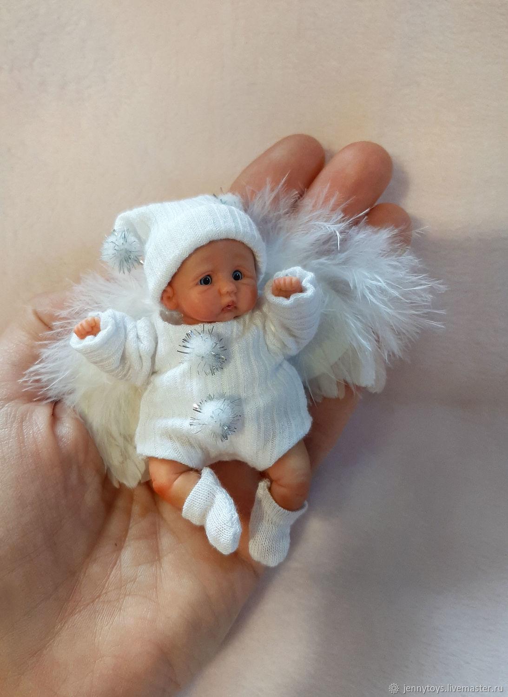 Малыш ангелочек из полимерной глины Ванюша, Куклы Reborn, Екатеринбург,  Фото №1