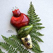 Украшения ручной работы. Ярмарка Мастеров - ручная работа Брошь гранат из коллекции Невиданные цветы. Handmade.