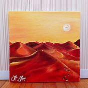 Картины и панно handmade. Livemaster - original item Author`s miniature oil Landscape of the desert
