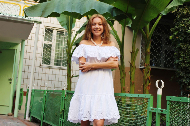 """Нарядное платье """"Белоснежное"""" хлопок-ришелье, Dresses, Tashkent,  Фото №1"""