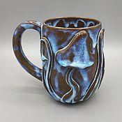 Посуда handmade. Livemaster - original item Ceramic anthracite mug