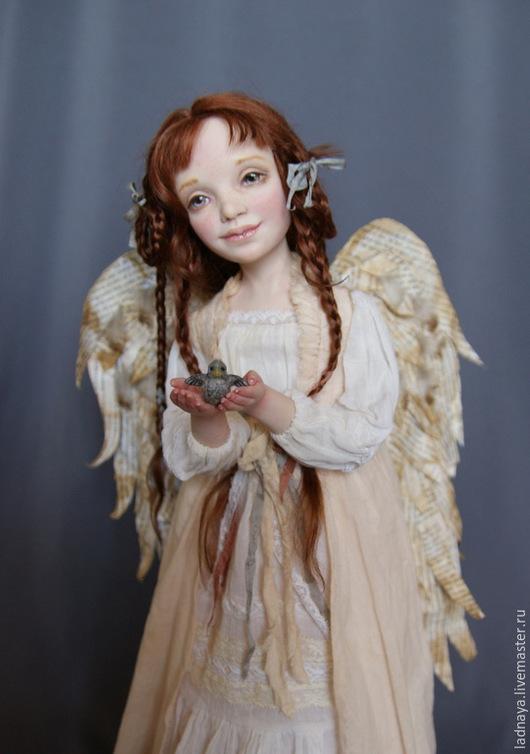 Коллекционные куклы ручной работы. Ярмарка Мастеров - ручная работа. Купить Мой Ангел. Handmade. Бежевый, шебби шик, батист