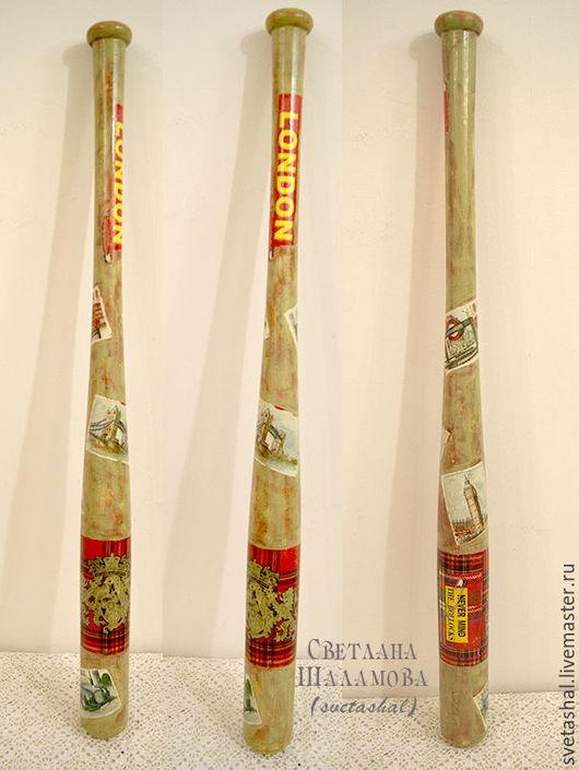 """Подарки для мужчин, ручной работы. Ярмарка Мастеров - ручная работа. Купить Бейсбольная бита """"Лондон"""". Handmade. Комбинированный, спорт, лондон"""