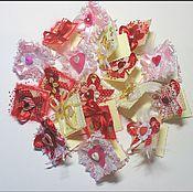 Открытки ручной работы. Ярмарка Мастеров - ручная работа Мини-валентинки. Handmade.