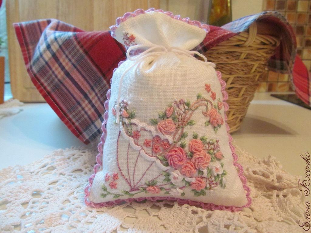 Вышивка на мешочки саше
