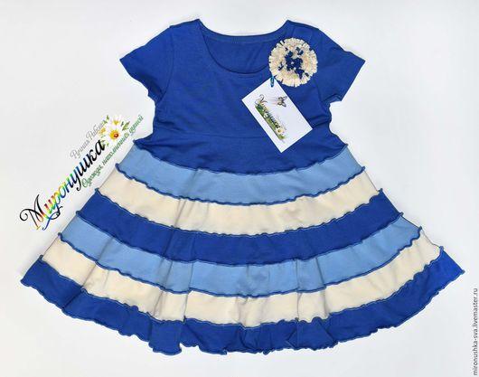 """Одежда для девочек, ручной работы. Ярмарка Мастеров - ручная работа. Купить Платье """"Голубая астра"""". Handmade. Синий, васильковый цвет"""
