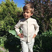 Работы для детей, handmade. Livemaster - original item Linen shirt
