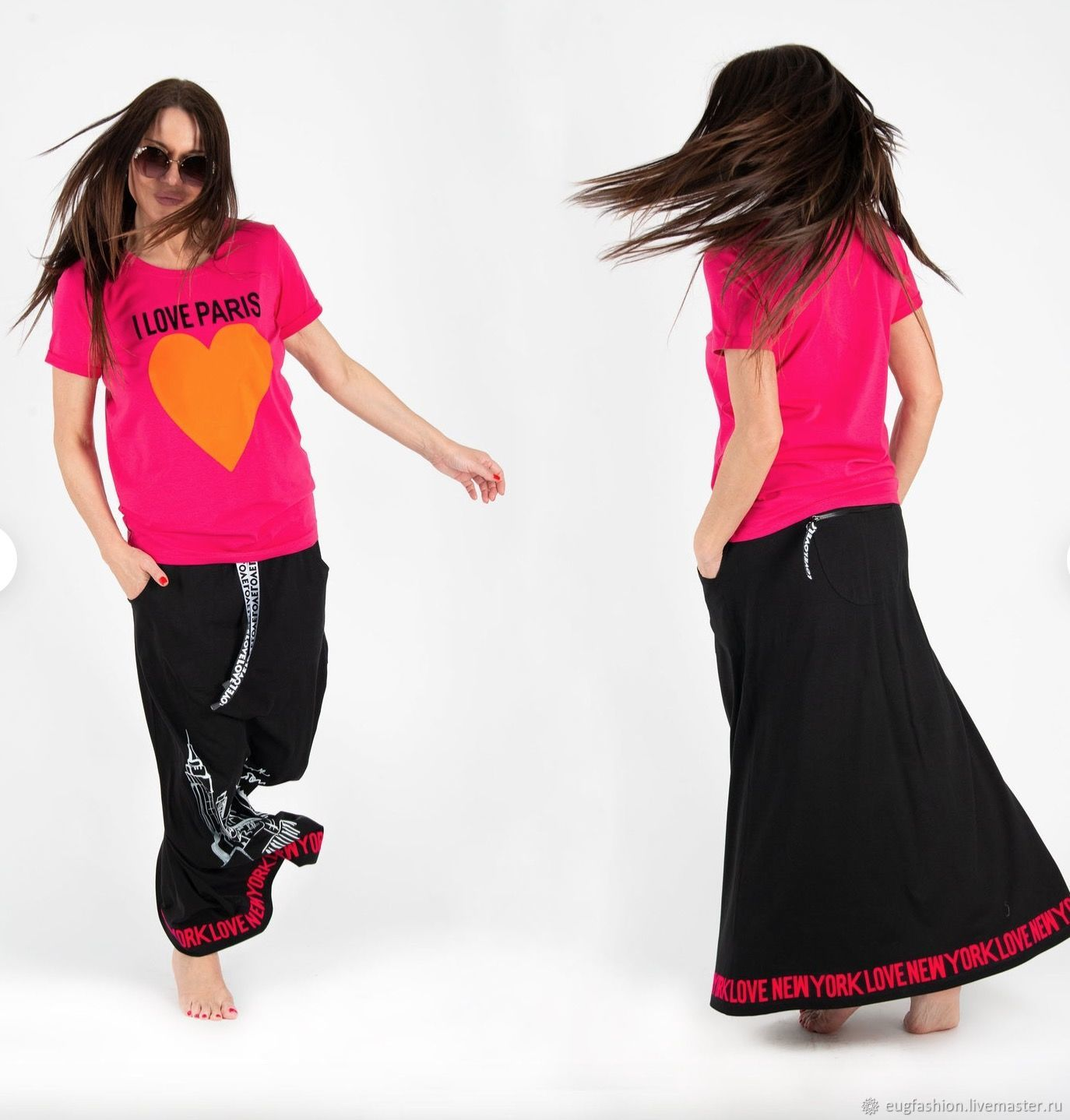Fashion set for summer/ Cotton skirt / Cotton t-shirt TP0538TR, Suits, Sofia,  Фото №1