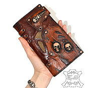 Кошелёк, портмоне, бумажник с черепами. Skull wallet.