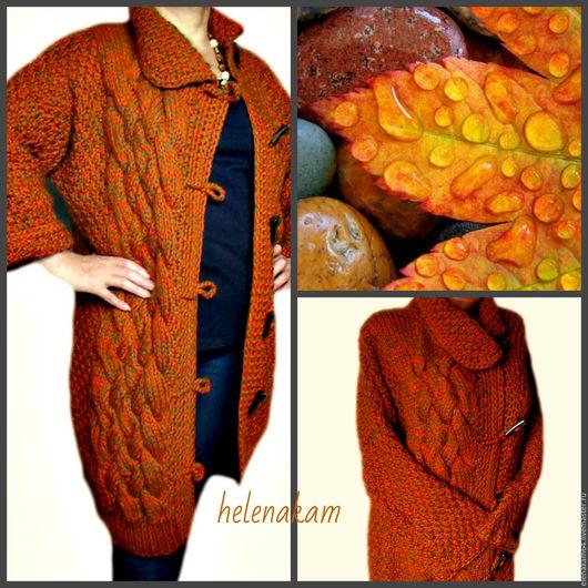 Верхняя одежда ручной работы. Ярмарка Мастеров - ручная работа. Купить пальто вязаное. Handmade. Пальто, кардиган, Осеннее пальто