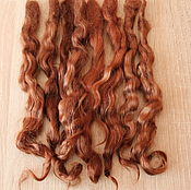 Материалы для творчества handmade. Livemaster - original item Hair for dolls (cinnamon). Handmade.