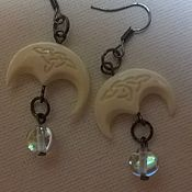 Украшения handmade. Livemaster - original item earrings lunacy. Handmade.