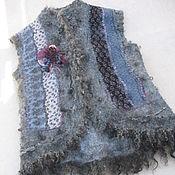 Одежда handmade. Livemaster - original item Felted vest with fleece