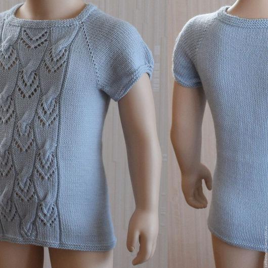 Одежда для девочек, ручной работы. Ярмарка Мастеров - ручная работа. Купить Топ светло голубой. Handmade. Детский свитер