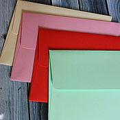 Материалы для творчества ручной работы. Ярмарка Мастеров - ручная работа Конверты цветные из плотной бумаги. Handmade.