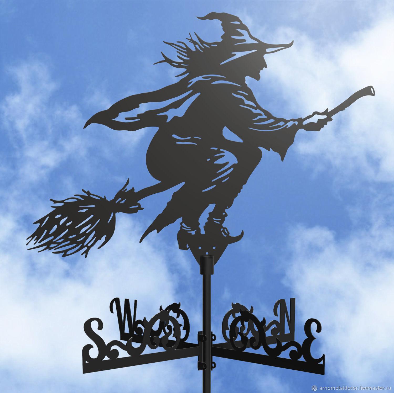 Weather vane on the roof ' Witch on a broom', Vane, Ivanovo,  Фото №1