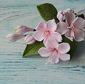 Украшения handmade. Livemaster - original item Hair clip with Sakura flowers. Handmade.