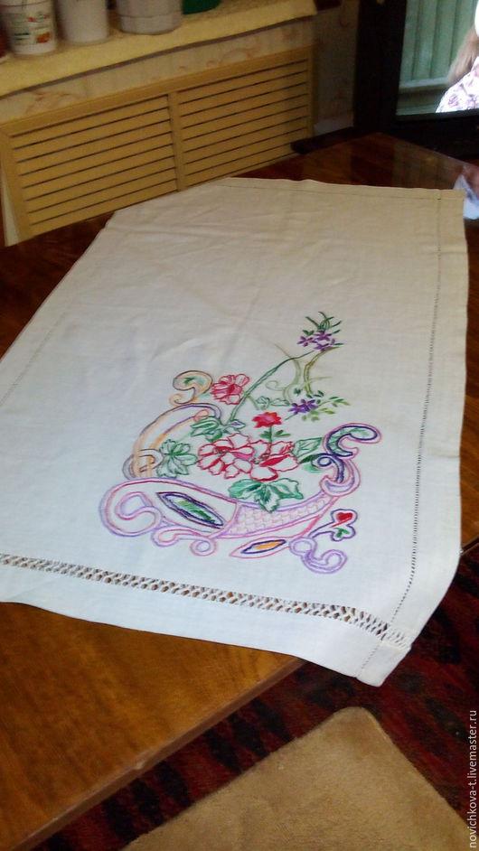 Текстиль, ковры ручной работы. Ярмарка Мастеров - ручная работа. Купить Скатерть-дорожка. Handmade. Комбинированный, нитки мулине, эксклюзив