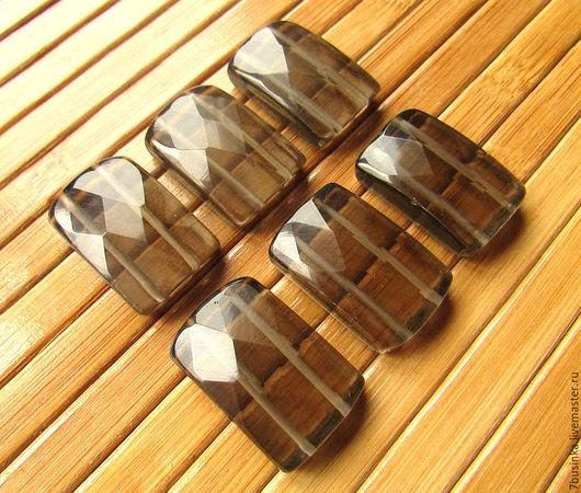 Бусины РАУХТОПАЗ дымчатый кварц с огранкой. Цена за 1 шт.  Елена (7businka).