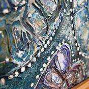 """Картины и панно ручной работы. Ярмарка Мастеров - ручная работа """"плюс один""""  рельефное панно. Handmade."""
