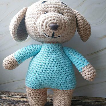 """Куклы и игрушки ручной работы. Ярмарка Мастеров - ручная работа Вязаный щенок """"Дружок"""". Handmade."""