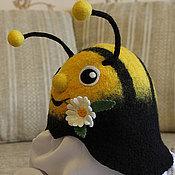 """Для дома и интерьера ручной работы. Ярмарка Мастеров - ручная работа Шапка для сауны """"Юный пчел"""". Handmade."""