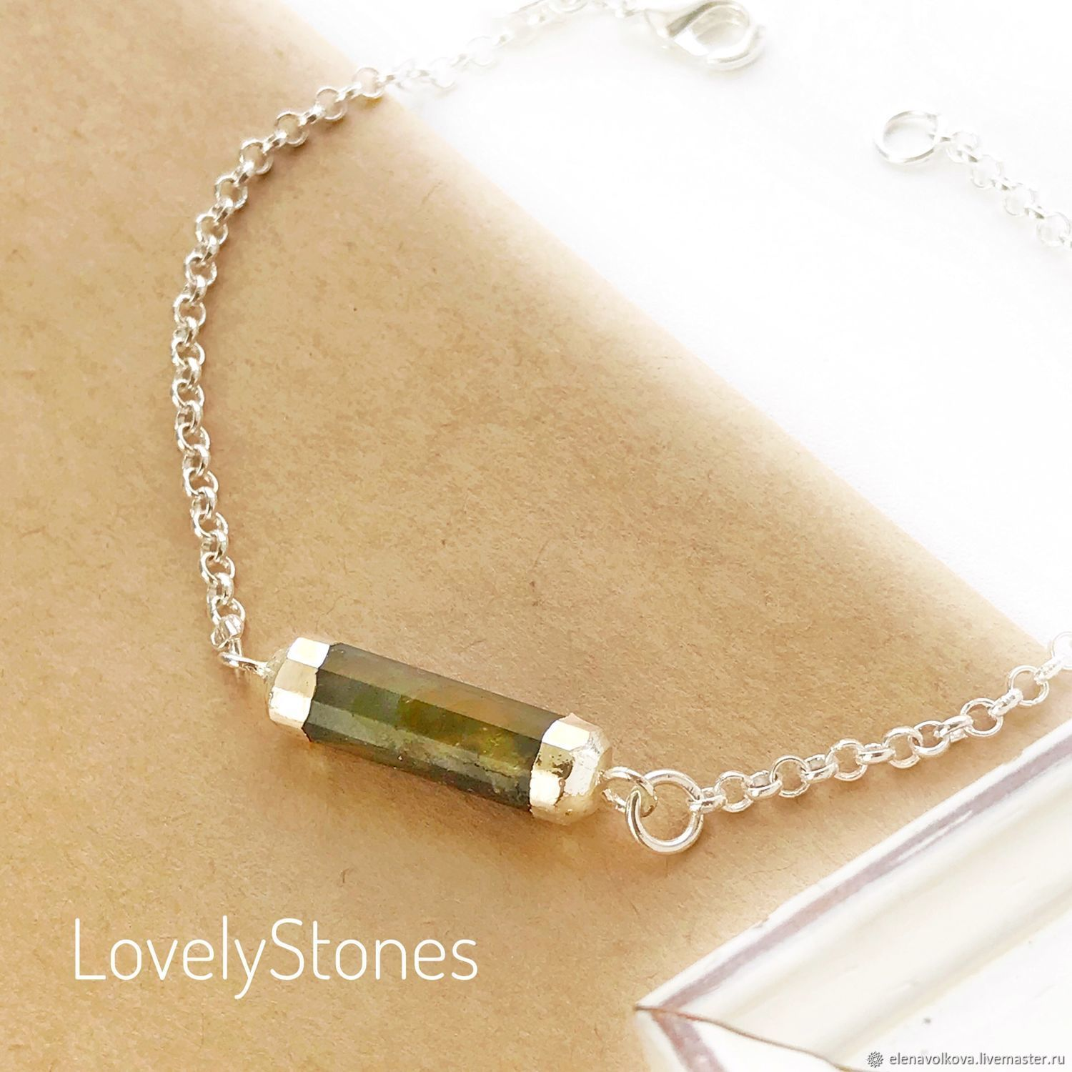 The bracelet Sparkles with mother-of-pearl on the delicate chain gift girlfriend, wife, Chain bracelet, Yaroslavl,  Фото №1