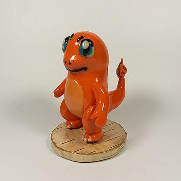 Куклы и игрушки ручной работы. Ярмарка Мастеров - ручная работа Покемон Чермандер Коллекционная игрушка. Handmade.