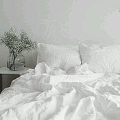 Bedding sets handmade. Livemaster - original item White linen from flax