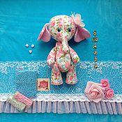 Куклы и игрушки ручной работы. Ярмарка Мастеров - ручная работа Слонишка Розочка. Handmade.