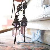 Украшения ручной работы. Ярмарка Мастеров - ручная работа Серьги Розовый миндаль зацвел.. Handmade.