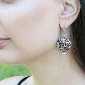 Украшения handmade. Livemaster - original item Classic Garnet earrings with garnets made of 925 GA0046 silver. Handmade.