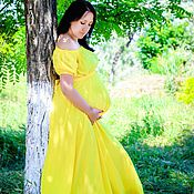 Одежда ручной работы. Ярмарка Мастеров - ручная работа Шифоновое платье для будущей мамочки. Handmade.