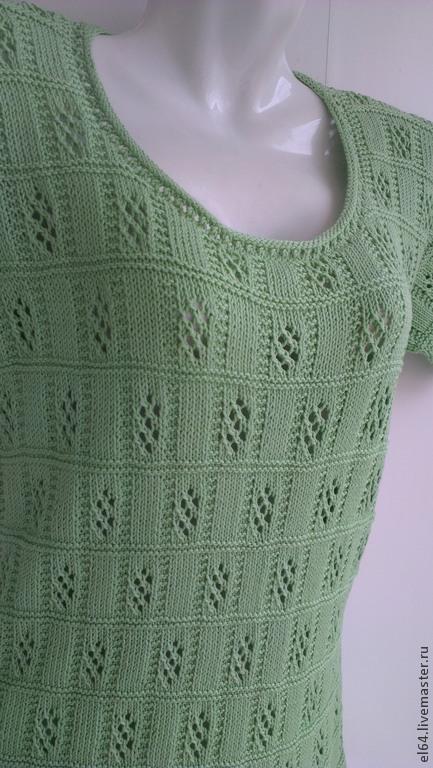 Кофты и свитера ручной работы. Ярмарка Мастеров - ручная работа. Купить Кофточка вязанная летняя. Handmade. Зеленый, Кофточка вязаная