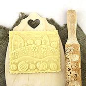Для дома и интерьера ручной работы. Ярмарка Мастеров - ручная работа Деревня скалка для печатного печенья и пряников. Handmade.