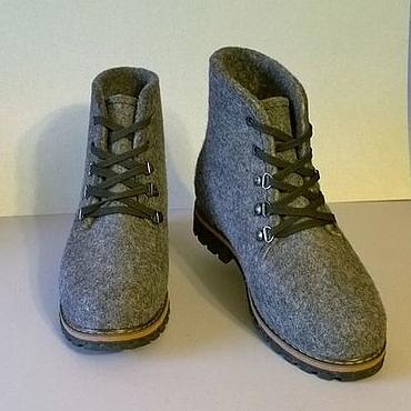 """Обувь ручной работы. Ярмарка Мастеров - ручная работа Валяные ботинки """"Классика"""". Handmade."""