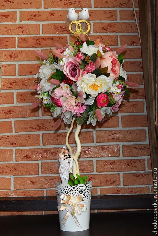 Искусственные цветы для топиария купить заказ букеты цветов фото
