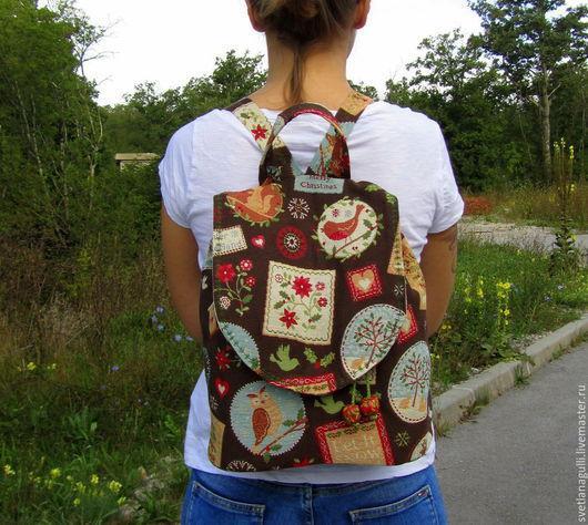 Рюкзаки ручной работы. Ярмарка Мастеров - ручная работа. Купить Гобеленовый рюкзак СКОРО РОЖДЕСТВО. Handmade. Рюкзак гобеленовый, рождество
