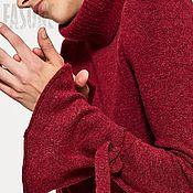 """Одежда ручной работы. Ярмарка Мастеров - ручная работа Платье красное вязаное """"Брусника"""" Красное вязаное платье. Handmade."""