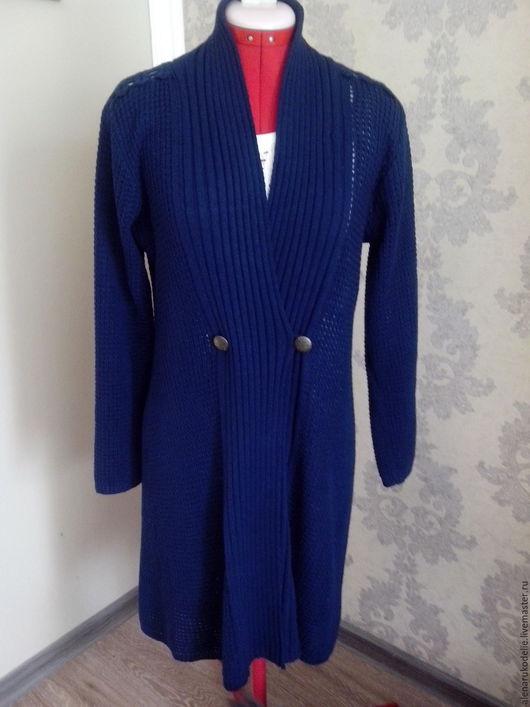 Кофты и свитера ручной работы. Ярмарка Мастеров - ручная работа. Купить Синий кардиган. Handmade. Тёмно-синий, кардиган