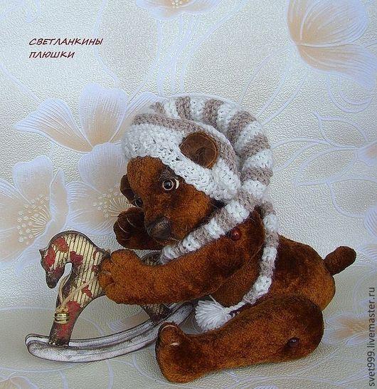 """Мишки Тедди ручной работы. Ярмарка Мастеров - ручная работа. Купить плюшевый медведь  """"Лу-лу и лошадка"""". Handmade. плюш"""