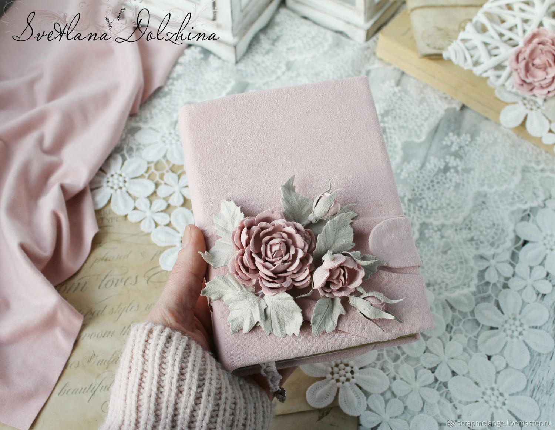 """Блокнот """"Нежность розы  """" бархат винтаж розовый, Записные книжки, Тюмень,  Фото №1"""