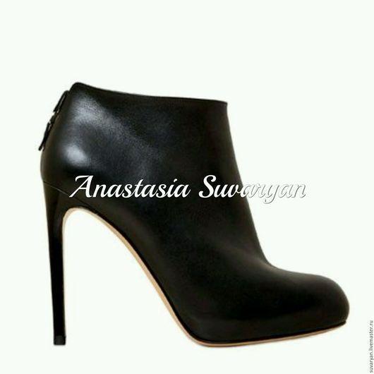 Обувь ручной работы. Ярмарка Мастеров - ручная работа. Купить ботинки. Handmade. Черный, ботинки женские, обувь, Обувь из кожи