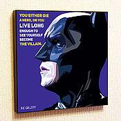 Подарки к праздникам handmade. Livemaster - original item Painting Batman Pop Art. Handmade.