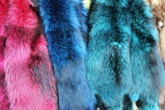 Шитье ручной работы. Ярмарка Мастеров - ручная работа. Купить Мех енота (енот. собака) цветной. Handmade. Мех енота
