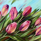 Картины и панно handmade. Livemaster - original item Acrylic painting Tulip mood. Handmade.
