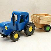Техника, роботы, транспорт ручной работы. Ярмарка Мастеров - ручная работа Синий трактор. Handmade.